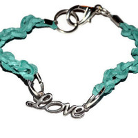 Love Bracelet With Knotted Leather Cord