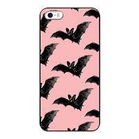 Goth Girl Vampire Bat Gothic Grunge Hard Case for iPhone5 5S Design Protective