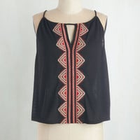 Short Length Sleeveless Lingering Loveliness Top
