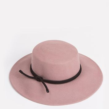 Candace Pink Boater Hat