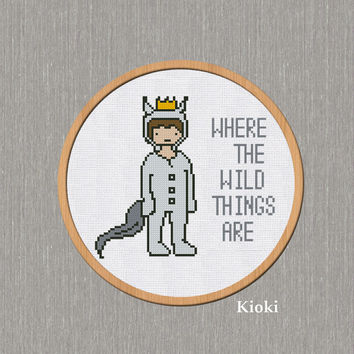 Cross Stitch Pattern Max (Where the wild things are) Instant Download