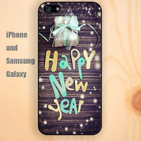 happy new year wooden colorful iphone 6 6 plus iPhone 5 5S 5C case Samsung S3,S4,S5 case Ipod Silicone plastic Phone cover Waterproof