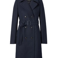 Italian Melton Wool-Blend Long Coat | Banana Republic
