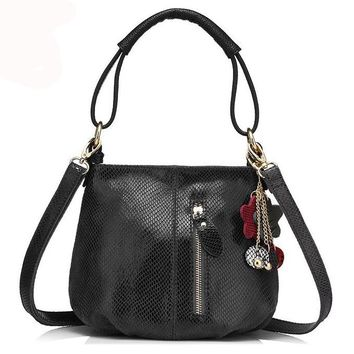 new arrival women genuine leather handbag ladies melon grain pattern shoulder bag fashion women small hobos bag