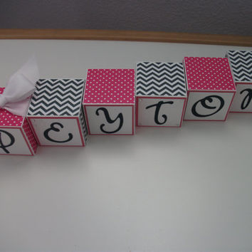 Wooden Name Blocks, Baby Name Blocks, Baby Girl, Newborn, Baby Shower, Baby Gift, Nursery, Name Blocks, Baby, Girl, Blocks