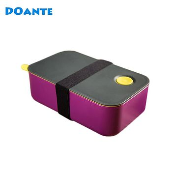 DOANTE Brand Top Quality Dinnerware Set Japan Style Double Layers Lunch Bento Box With Rope Food Storage Container