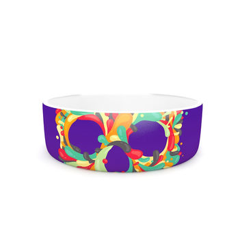 "Roberlan ""Jelly Skull"" Purple Multicolor Pet Bowl"