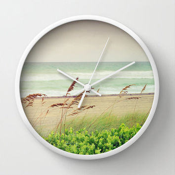 Wall Clock, Beach - Surf Decor, Beach Cottage, Tropical Design - Coastal Decor Collection
