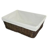 Small Decorative Basket with Liner Espresso Brown - Pillowfort™ : Target