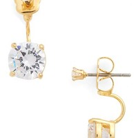 Women's Covet Cubic Zirconia Drop Back Earrings
