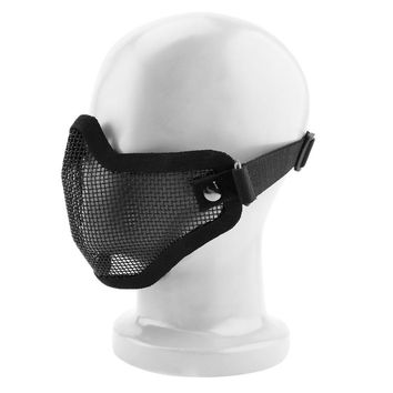 Steel Mesh Half Face Mask Guard Protect For Paintball Airsoft Game Hunting