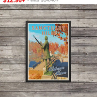 Fallout Poster | Sanctuary Hills poster | Vintage look print | Videogame art