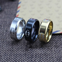 Classical Hero Batman Stainless Steel Ring for Men