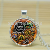 1pcs Led Zeppelin Steampunk pendant jewelry Glass Cabochon Necklace A3943