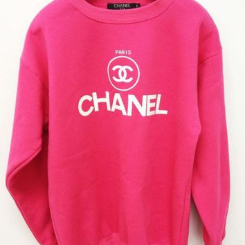 LMFON CHANEL Fashion Casual Sport Top Sweater Pullover Sweatshirt