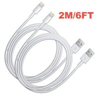 2020Products 2x iPhone 5s/5c/5 extra long 6.3ft 8 Pin to USB Charger Cable for iPhone 5 iPod Touch 5th Nano 7th Gen