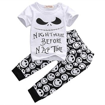 New summer style Cotton Baby Boys Casual T-shirt+Cross Pants 2pcs baby clothing sets baby boy clothes