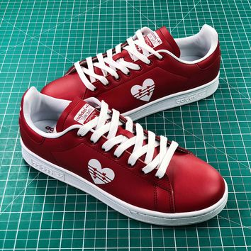 Adidas Stan Smith Valentine's Day Love Red Shoes - Best Online Sale