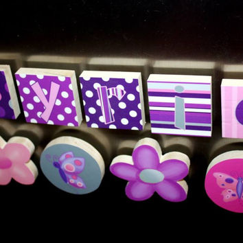 Lilac Flowers Girls Name Magnets Fridge Bedroom Magnets NM0010