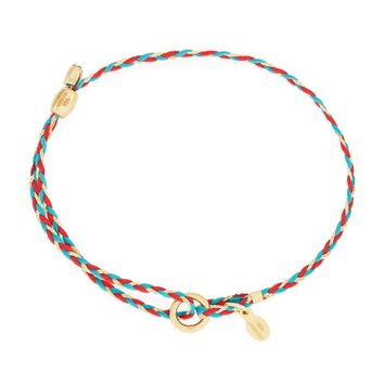Red Teal Precious Threads Bracelet