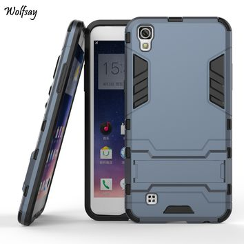 Cover For LG X Power Case Dual Layer Armor Silicone & Slim Plastic Case For LG X Power Cover K210 Phone Stand For LG X Power ]<