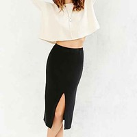 Project Social T Cozy Fitted Midi Skirt- Black