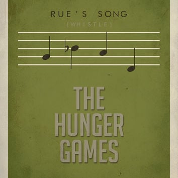 Rue's Song Hunger Games Inspired Poster 11 x by EntropyTradingCo