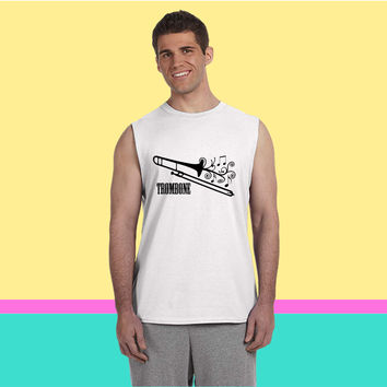 Trombone with Swirls1 Sleeveless T-shirt