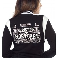 Sourpuss Clothing Monster Mortuary Varsity Jacket | Attitude Clothing