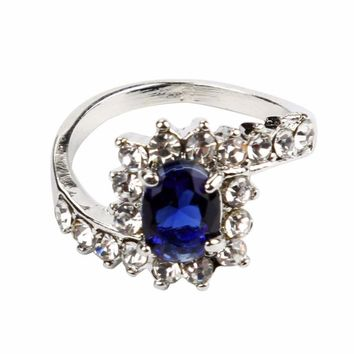 Silver Ring with Colored Stones Sizes 5-10