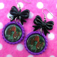 Beetlejuice Miss Argentina Zombie Fashion Queen Earrings