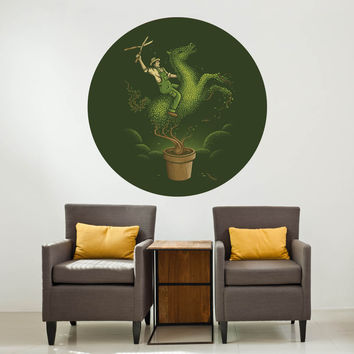 Enkel Dika's Wild Garden Circle Decal