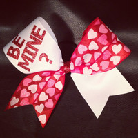 Valentine's Day BE MINE Cheer Bow