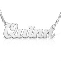 Classic Name Necklace White Gold Beautiful Graduation Gift for Women Special Gift Jewelry White Gold Nameplate Necklace With Any Name