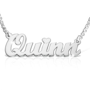 Name Plate Necklace Silver Necklaces With Name Beautiful Birthday Gift for Women Special Graduation Gift Jewelry Silver Nameplate Necklace
