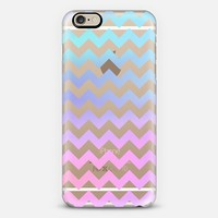 Cotton Candy Chevron Transparent iPhone 6 case by Organic Saturation | Casetify