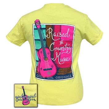 Girlie Girl Originals Preppy Raised On Country Music T-Shirt