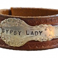 Silveware Handle Leather Cuff GYPSY LADY | Second Shout Out, Vintage Marketplace