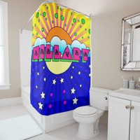 Cosmic Style Hillary Celebration Poster Shower Curtain