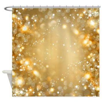 Pretty Faux Gold Sparkle Shower Curtain> Pretty Faux Gold Sparkle> Buy A Gift