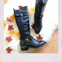 Manhattan High Boots- Black