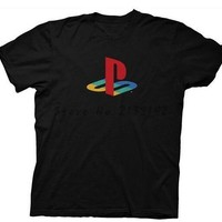 Playstation Sony Playstation Logo Gamer Licensed Adult t Shirt XS-XXXL men's top tees man cotton tee shirt summer fashion