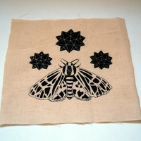 Tiger Moth and Stars Patch