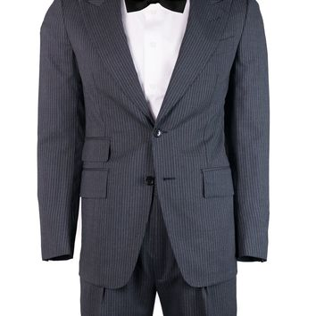 Tom Ford Men's Grey Wool Pin Striped Shelton 2 Piece Suit