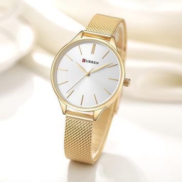 CURREN Women Watches Luxury Couple Dress Wristwatch Relogio Feminino Clock for Women Montre Femme Quartz Ladies Watch for Lovers