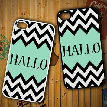 Mint Green Color-Block Chevron Art Hallo F0516 LG G2 G3, Nexus 4 5, Xperia Z2, iPhone 4S 5S 5C 6 6 Plus, iPod 4 5 Case