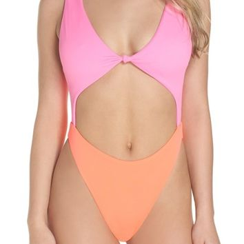 Leith Colorblock One-Piece Swimsuit | Nordstrom