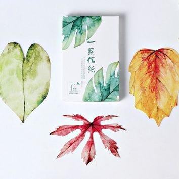 30design 30pcs/lot New leaves design postcards Nice Stationry Greeting Cards Calendars Planner & Cards Paper Bookmark