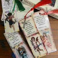 Scripture Bookmarks Bible Verse Bookmarks  Religious Laminated Angel  Bookmarks