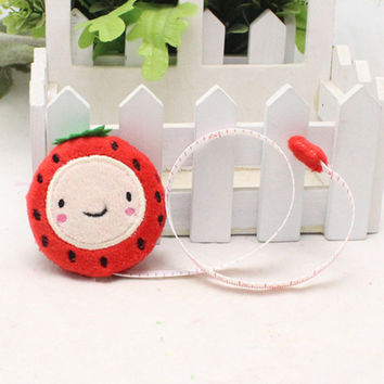 Cartoon Plush Retractable Tape Measure Ruler 150cm 60 Inch Sewing Tool gift for kids Random color